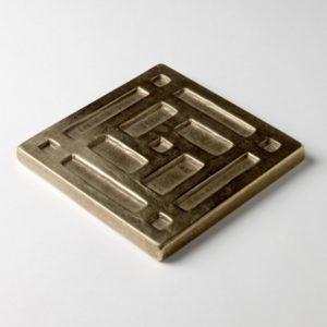 Foundry Art Grid metal accent inset tile 3D