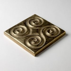 Foundry Art Pinwheel 3-inch metal accent inset tile 3D