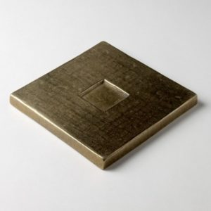 Foundry Art Square metal accent inset tile 3D