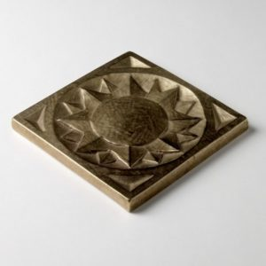 Foundry Art Sun metal accent inset tile 3D