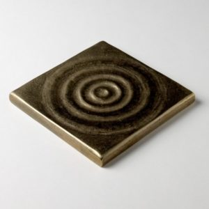 Foundry Art Water metal accent inset tile 3D