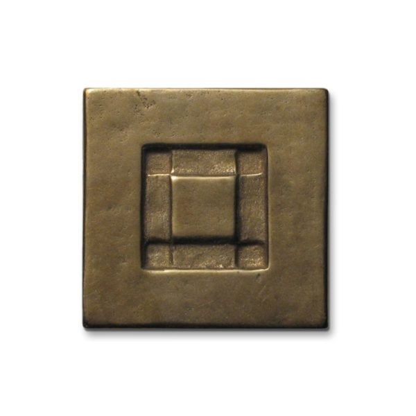 Foundry Art Center Square metal accent inset tile