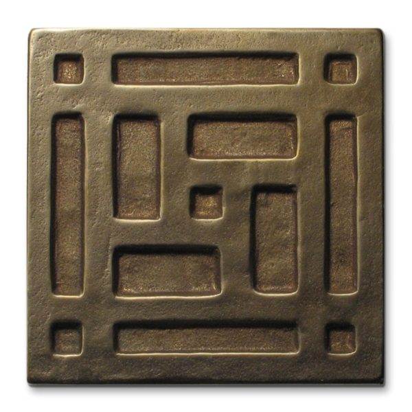 Foundry Art Grid metal accent inset tile
