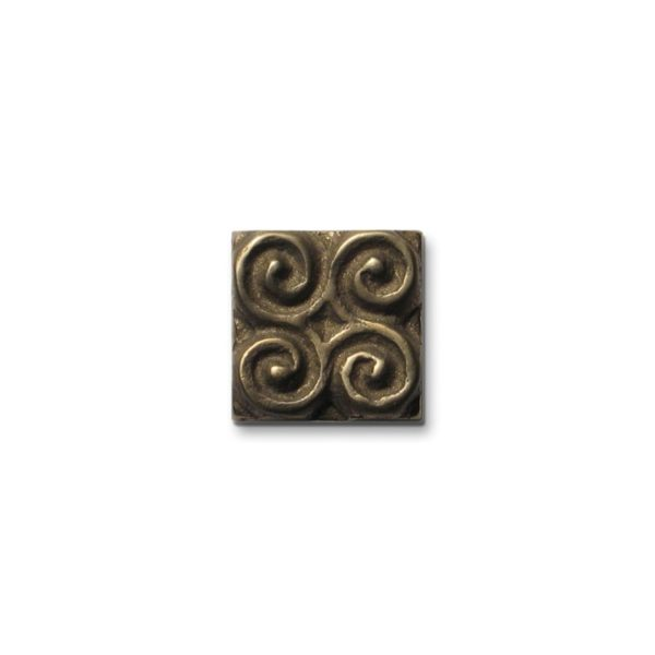 Foundry Art Pinwheel 1-inch metal accent inset tile