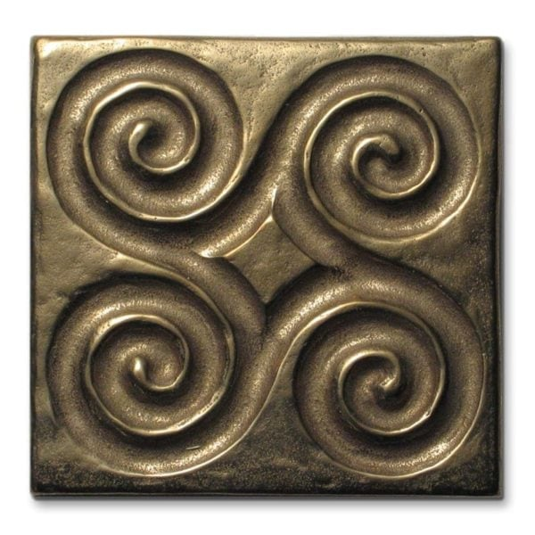 Foundry Art Pinwheel 3-inch metal accent inset tile