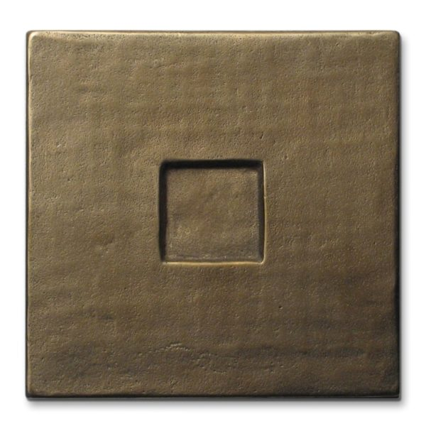 Foundry Art Square metal accent inset tile