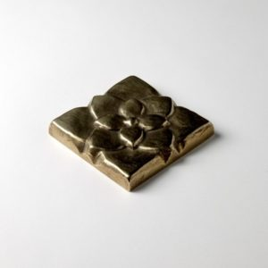 Foundry Art Lotus 2-inch metal accent inset tile 3D