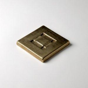 Foundry Art Center Square metal accent inset tile 3D