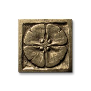 Foundry Art Moon Blossom 2-inch metal accent inset tile