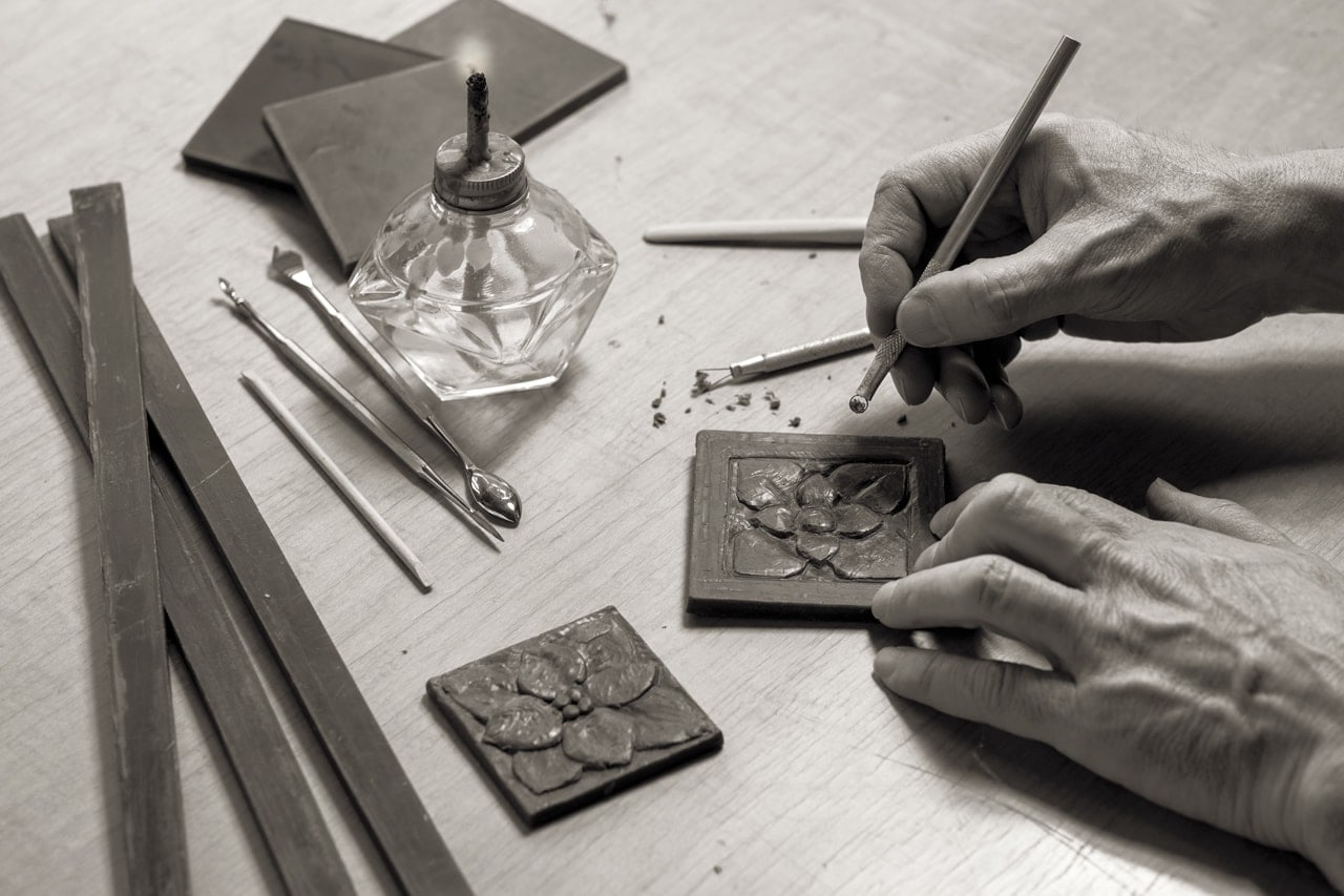 Foundry Art wax carving