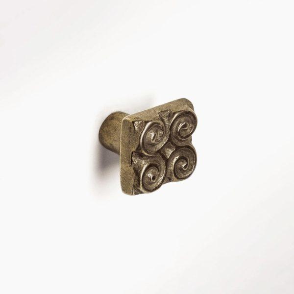 Foundry Art Pinwheel bronze accent knob mounted