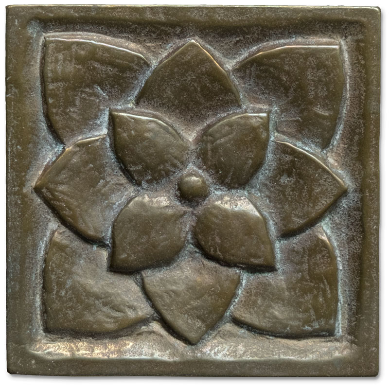 A rich, mellow patina on a 20-year old Traditional Bronze tile